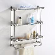 USDFJN Towel Holder Bathroom Stand Shelf Stainless steel 50cm