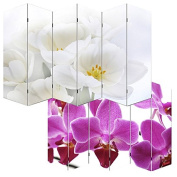 Photo Room Dividers, Room Dividers, Spanish Wall M68, 180x240cm, six panels, orchid