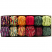 Valdani Hand Dyed Perle Cotton Balls Size 8 67m 12/Pkg