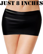 UNBRANDED Hot & Sexy Ladies Just 20cm Faux Leather Look Micro Mini Skirt