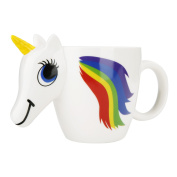 Yiushing Unicorn Ceramic Colour Changing Mug Original 3D Heat Sensitive Magic Coffee Cup