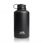 1890ml Stainless Steel Insulated Water Bottle and Beer Growler by Highland Peak - Wide Mouth Canteen - Hot and Cold - BPA Free Metal Thermos Flask
