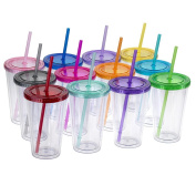 Maars® Classic Insulated Tumblers 470ml | Double Wall Acrylic | 12 pack