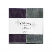Nawrap Binchotan Dishcloth, Naturally Antibacterial, Purple X Charcoal