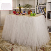Tulle Table Skirt Fabric Tutu Table Cloth for Rectangle or Round Tables / Fashion Deluxe Romantic Wedding Birthday Party Baby Shower Decorative tablecloth / Table Cover