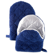 DII Cooking Pinch Mitts Mini Short Terry Oven (Set of 2), 19cm x 14cm , Nautical Blue