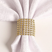 Rhinestone Napkin Rings Wedding Adornment, Napkin Holder for DIY Party Banquet Birthday, Gold