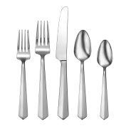 Oneida Vertica 65 Piece Fine Flatware Set, 18/10 Stainless, Service for 12