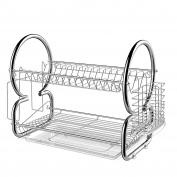 BATHWA 2 Tier Dish Rack Cup Drying Rack Drainer Dryer Tray Holder Organiser
