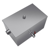 INJASWISE Commercial 3.6kg Grease Trap 5GPM Stainless Steel for Restaurant Kitchen