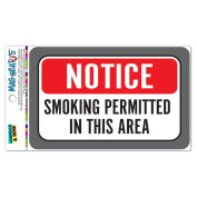 Graphics and More Notice Smoking Permitted In This Area MAG-NEATO'S(TM) Vinyl Magnet Sign