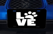 Love Pets Pet Paws Dog Cat Puppy Kitten Stacked Aluminium Licence Plate for Car Truck Vehicles