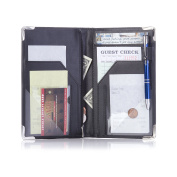 All-in One Server Book for Waiter Waitress Waitstaff | 11 Pocket Organiser with Zipper Pouch, POS Card Pocket and Pen Loop | Includes 2 Guest Order Cheque Pads and Metal Pen in Gift Box