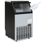 Best Choice Products Portable Stainless Steel Commercial Ice Maker w/ Scooper, Timer & Auto Clean, Products 45kg Daily