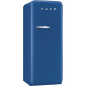 Smeg FAB28UBER1 60cm 50s Retro Style Top-Freezer Refrigerator with 0.3cbm Capacity Ice Compartment Interior Light Adjustable Glass Shelves and Bottle Storage in Blue