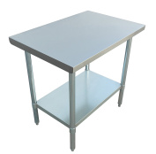 JET Stainless Steel Commercial Utility NSF Kitchen Prep and Work Table Holds Up to 320kg with Adjustable Galvanised Undershelf for Restaurants and Homes, 90cm Long x 60cm Wide, Silver