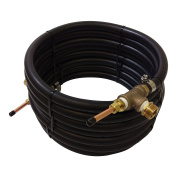 NY Brew Supply Deluxe Counterflow Wort Chiller with Copper Tubing, 1cm , Bronze