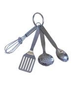 R & M International Mini Kitchen Tool Set with Keychain