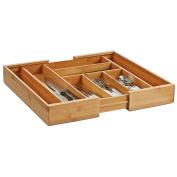 Zeller 25277 Cutlery Box, extendable, bamoo, 35-58 x 43 x 6,5 cm