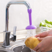 Gluckliy Swivel Water Saving Tap Aerator Diffuser Faucet Filter Connector Kitchen Bathroom Accessories, Purple