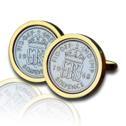 1948 Gold Sixpence Coin Cufflinks Vintage 70th Birthday Anniversary