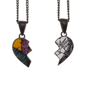 Official The Nightmare Before Christmas His and Hers Necklace Set in Gift Box