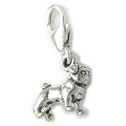 Pug dog TINY sterling silver charm .925 x 1 Pugs Dogs charms SSLP3554--09LS