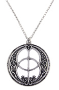 St Justin, Pewter Chalice Well Pendant - 46cm Curb Chain