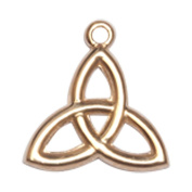 14ct Gold Trinity Irish Knot Medal. Includes deluxe flip-top gift box. Medal/Pendant measures 1cm x 3/8