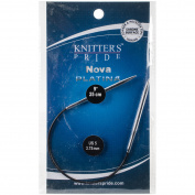 Knitter's Pride-Nova Platina Fixed Circular Needles 25cm
