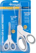 Westcott Titanium Bonded 13cm Straight & 20cm Bent Scissors