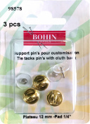 Bohin Tie Tacks W/ Clutch 3/Pkg