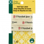 Dritz Quilting Twill Tape Labels 90cm