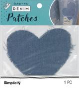 Simplicity Denim Iron-On Patch 13cm x 10cm