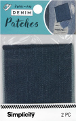 Simplicity Denim Iron-On Patches 7.6cm x 7.6cm 2/Pkg