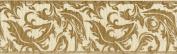 Natural Linen W/Paisley Scroll Ribbon 2.5cm - 1.3cm X10yd