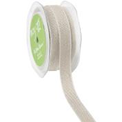 Natural White Edge Ribbon 1.6cm X20yd