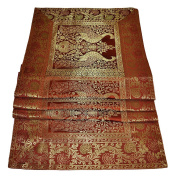 Indian Decorative Dining Table Runner Vintage Silk Table Cloth Mat 40 x 152 Cm