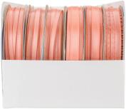 Offray Spool O' Ribbon Woven Edge Solid Assortment 24/pkg