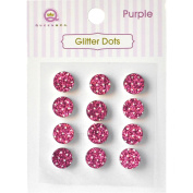 Queen & Co Glitter Dots 8mm Self-Adhesive 12/Pkg