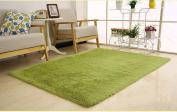 Weimanshop Contemporary Living & Bedroom Soft Shaggy Area Rug Carpet Short Hair Grass Green 120cm x 160cm