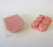 WHICKSNWHACKS ® WAX MELTS Clam Shell HEART Shaped PINK LEMONADE for your Oil Burner