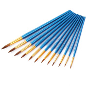 Art Paint Brushes Set, Wartoon 12pcs Assorted Sizes Nylon Artists Specialist Crafts Round Paint Brushes for Art Acrylic Oil Painting Modelling, Blue