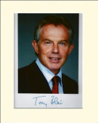 TONY BLAIR PRIME MINISTER SIGNED AUTOGRAPH PHOTO PRINT IN MOUNT