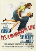 Vintage Frank Capras It's A Wonderful Life James Stewart Movie Film A3 Poster / Print / Picture 280GSM Satin Photo Paper