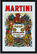 Empire 537478 Printed Mirror in Plastic Frame with Wood Effect Featuring Martini Design 20 x 30 cm