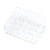 Cosmetic Holder, Crazycity 24 Stand Trapezoid Clear Lipstick Lotion Makeup Cosmetic Holder