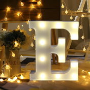 DRESS® Alphabet Letter Lights LED Light Up White Plastic Letters Standing Hanging A-M & Arrow