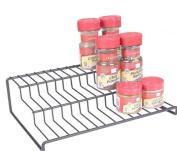 3 Tier Cabinet Spice Rack Organiser GONGSHI-Step Shelf Storage-Black