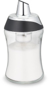 Gourmia GSS995 POUR'N MEASURE Sugar Dispenser and Container without Pouring Spout - Select Half Teaspoon Per Pour or Free Flow – Clear Glass Jar - 220ml – BPA Free - Dishwasher Safe